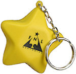 Star Key Chain Stress Balls
